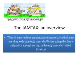 A touch of reality: IAMTAX in Guatemala
