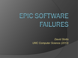 Epic Software Fails