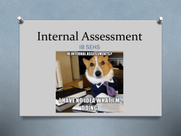 Internal Assessment - Hickory High School Sports, Exercise and