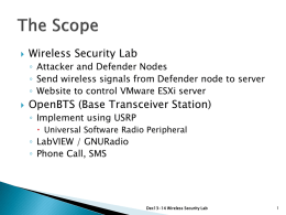 Wireless Security Lab + Open BTS