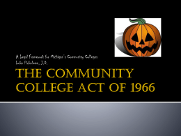 The Community College Act of 1966