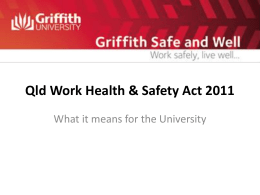 Queensland Work Health and Safety Act 2011