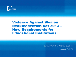 Violence Against Women Reauthorization Act 2013
