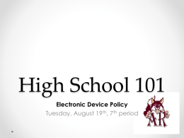 Aug 19 7th HS101 Electronic Devices