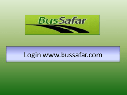 Bus Safar Manual