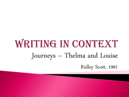 Writing in Context-Journeys - Year11VCE