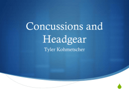 Concussions and Headgear Powerpoint