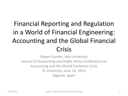 Financial Regulation in a World of Financial