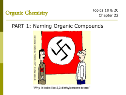 Functional Groups & Naming Organic Compounds