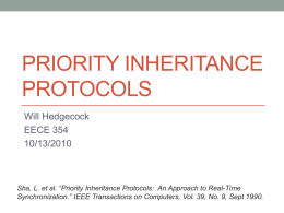 Priority Inheritance Protocols: An Approach to Real