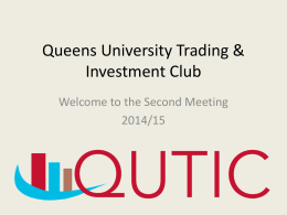 Trading Competition - Queen`s University Belfast
