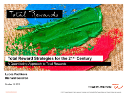 Reinventing Total Rewards and the EVP - HRA-NCA