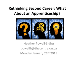 Rethinking Second Career: What About an Apprenticeship?
