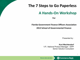 The 7 Steps to Go Paperless - Florida Government Finance Officers