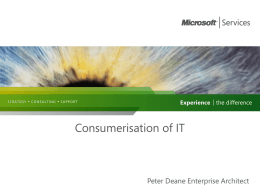 Consumerisation of IT - Peter Deane