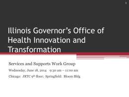 Services and Supports Work Group
