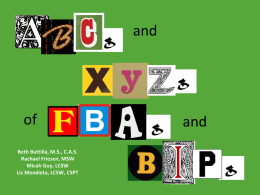 The ABC`s and XYZ`s of FBA and BIP
