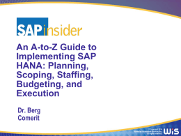 HANA2014_A_to_Z_Guide_Part_2