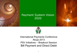 16) The Impact of e-Payments on Bill Payment and Direct Debit