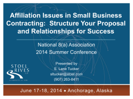 Affiliation Issues in Small Business Contracting