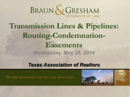 Transmission Lines & Pipelines - Texas Association of REALTORS