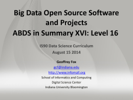 PPT - Big Data Open Source Software and Projects