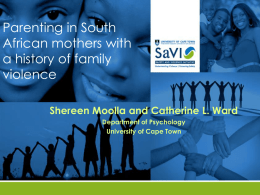 parenting stress - Centre for Evidence Based Early Intervention