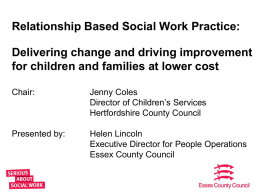 TI1 Relationship based social work practice