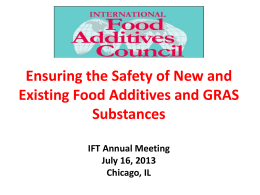 IFAC-GMP Guide - International Food Additive Council