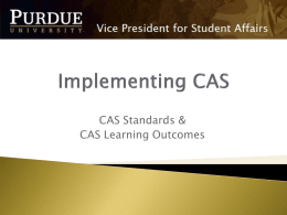 PowerPoint: Implementing CAS Standards at