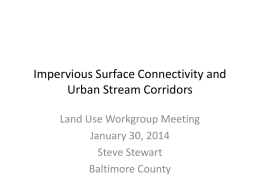 Impervious Surface Connectivity and Urban Stream Corridors