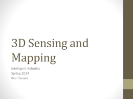 Visual sensing and 3D mapping