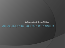 An Astrophotography Primer
