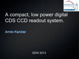 A compact, low power digital CDS CCD readout system.