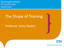 Item 9: Shape of Training report – Implications for Change