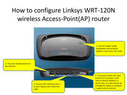 How to configure FUSD installed Linksys AP WRT