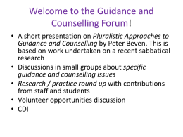 Here - Guidance & Counselling Matters