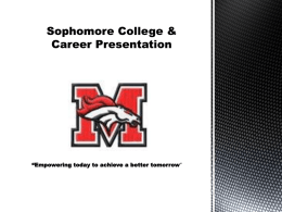 College and Career Presentation