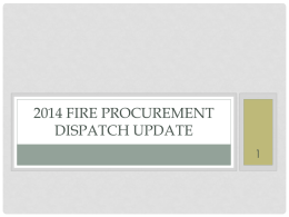 2014 Workshop_Procurement-Dispatch