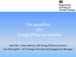 CRC Energy Efficiency Scheme