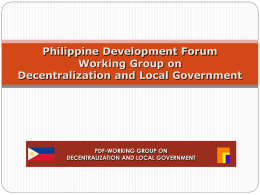 DILG Presentation - Philippines Development Forum