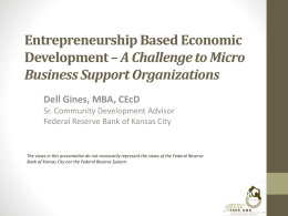 Entrepreneurship Based Economic Development