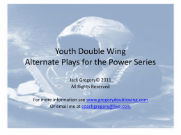 Youth Double Wing Alternate Plays for the Power Series