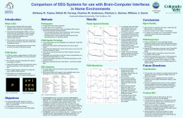Comparison of EEG Systems for use with Brain