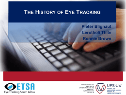 History of eye tracking