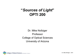 L5 - The University of Arizona College of Optical Sciences