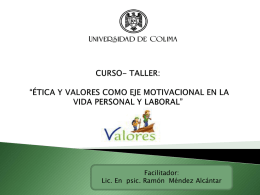 valor - Universidad de Colima