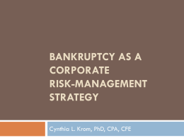 Chapter 11 bankruptcy as a corporate strategy