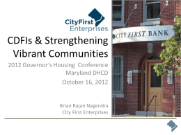 City First Homes - Department of Housing and Community