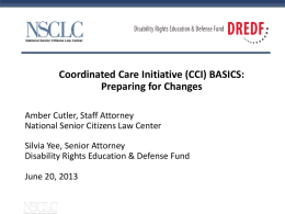 Cal MediConnect - Disability Rights Education & Defense Fund